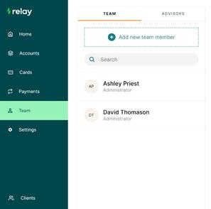 relay add new team member